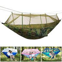Robusto 4 collore in nylon zanzara tenda set appeso a campeggio tenda appeso aderente aderente aderente paracadute hammock travel tents hammock