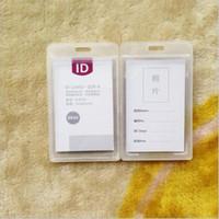 Porta biglietti da visita di plastica nuovo disco IPX 3 impermeabile id porta badge durevole Nome dipendente Tag multi colori