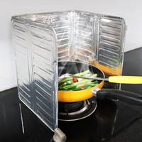 주방 프라이팬 기름 얼룩 보호 화면 커버 가스 스토브 안티 튄 쉴드 가드 오일 디바이더 배플 요리 도구 무료 배송