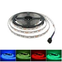 LED Strip 5050 DC12V Flessibile LED Luce Impermeabile 60 LEDs / m 5m / lotto 300 LED Bianco caldo Bianco RGB LED Strip Lights