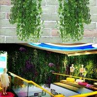 Зеленый Редька Листья Ротанг Декоративные симуляторы листьев цветка Evergreen Vines Поддельный Листья украшения завод