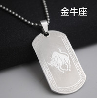 1pcs stainless steel 12 twelve constellation logo necklace 1...