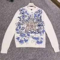 806 Бесплатная доставка 2020 осенний бренд такой же стиль обычный с длинным рукавом экипаж шеи пуловер кашемира вышивка кинта свитер женская одежда Цянь