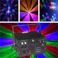 4.5W RGB LED DMX المرحلة ضوء الإضاءة الليزر العارض حزب عرض ديسكو مع بطاقة sd