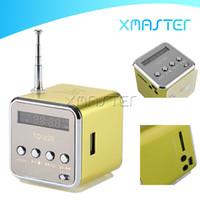 المحمولة في المنزل مكبر الصوت TD V26 Ubwoofer Musica مكبرات الصوت مصغرة سبائك الألومنيوم مايكرو USB المتكلم دعم الكمبيوتر المحمول راديو FM MP3