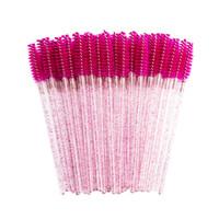 2020 Brilhante pincel de cílios descartáveis escovas de sobrancelha rímel mechas aplicador pente enxerto de maquiagem de beleza ferramenta chicote