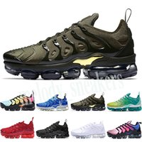 Nike Air Vapormax plus TN 2019 Plus-Tn-Regenbogen-Herrenschuh-Hummel Wahr Grape Triple Black Schuhe Frauen Fruchteis Team Red Chaussures Schwarz Weiß Turnschuhe m03 Sei