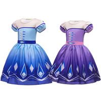 Sommer-Baby-Mädchen-Prinzessin Dress Snow Queen II Kinder dreeses 2 Farben Kinder-Ballkleid-Halloween-Partei Cosplay Cothing M1836