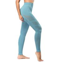 Preto impecável kint calças justas mulheres oco out leggings ginásio de cintura alta calças de yoga sem costura leggings treino esporte mulheres fitness # 1032895