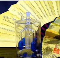 Quattro grandi filtro artiglio bottiglia d'acqua di vetro bongs vetro all'ingrosso Oil Burner Pipes bicchiere d'acqua piattaforme petrolifere per i fumatori