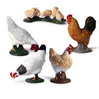 Моделирование курица Курица ферма птицы животных фигурки ПВХ реалистичные образования дети дети модель игрушка подарок милые игрушки