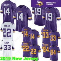 bc2de0cb4 Minnesota 19 Adam Thielen vikings Jersey 14 Stefon Diggs 22 Harrison Smith  33 Cook 29 Earl Thomas 84 Cordarrelle Patterson 100% Stitched