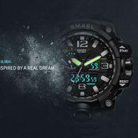 SMAEL 2020 Laranja Camuflagem Militar Relógios Marca Relógio Digital LED WristWatch Sport 1545B Mens Assista Lateyclock Homens militares militares