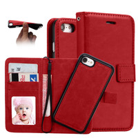 Clamshell per iPhone 6 7 8 iPhone 6 7 Custodia per telefono 8plus Custodia multifunzione per iPhone 2 in 1 Wallet Design divisibile