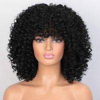 Wondero قصيرة Wige العفري غريب مجعد شعر مستعار للمرأة 8 ألوان المتاحة أسود من أصل أفريقي الطبيعية درجة الحرارة عالية الاصطناعية الشعر