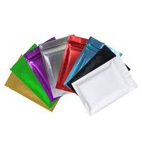 고품질 100 x 금속 mylar 지 플락 가방 평면 하단 블랙 알루미늄 호 일 작은 지퍼 잠금 플라스틱 가방
