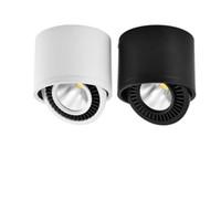 AC85V-265V Yüzey LED Sürücü Beyaz / Isınma White Spot Işık ile LED COB Aşağı Işık 3W / 7W LED Lamba Tavan Spot Işık Monteli