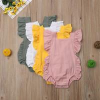 Newborn bambina bambino pagliaccetto della tuta della tuta vestiti infantili Outfit prendisole