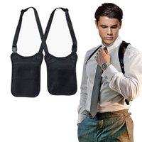 Tactical защита от угона Секретного агента сумка Hidden подмышки сумки плечо Кошелек подмышки Дело Мужчина охранка Костюм