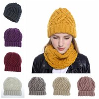 المعينية مربع قبعة الشتاء الدافئ محبوك القبعات للجنسين الرياضة كاب الصوف مصمم بيني النساء الرجال الهيب هوب الكروشيه قبعة LJJA2914