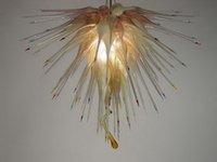 Vivendo Cheap Europeia Lâmpadas Quarto Arte decorativa moderna candelabro de cristal para Blown Venda Chihuly Estilo Murano Mão Chandeleir Luz Vidro