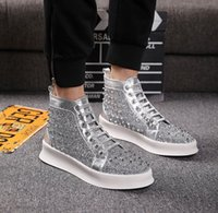 2019Hot The best- selling silver diamond sneaker mens and wom...