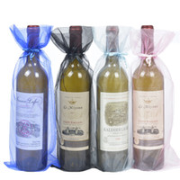 100pcs Organza Wine Bottle Bags Jewelry Gift Wedding Bags Po...