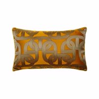 Moderna Orange soft Catena Elipse Copricuscino Vita 30x50cm Deco domestico dell'automobile del sofà sedia lombare Living Cuscino Sell by Piece CJ191225