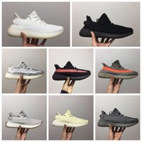 2019 nouveaux hommes de créateurs de luxe et les femmes V2 zèbre crème statique sésame Kanye West Clay True Form hyperespace 3M chaussures de course coureur de vague