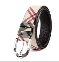 Designer Couple Style Chequered Genuine Leather Belt, Fashio...