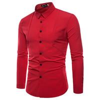 Camisas casuales para hombres Camisa de manga larga Personalidad de verano Solicitar moda Slim Hawaiian Hombres 4 colores