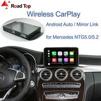 Carplay inalámbrico para Mercedes Benz C-Class W205 GLC 2015-2018, con Android Auto Mirror Link AirPlay Funciones de juego de automóviles