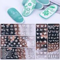 Nagel-Kunst-Platten-Set mit Schmetterlings-Blumen-Schneeflocke-Entwurfs-Nagel-Bild-Stampfer-Schablone für Nail Salon Maniküre Zubehör