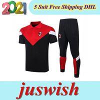 2020 2021 AC Mens Milano Polo Gömlek Borini Kısa Kollu Suso Eşofman Futbol Jersey Piatek 20 21 Polo Eğitim Tshirt Ibrahimovic Tee Kiti