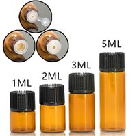 Delik Redüktör Küçük Esansiyel Yağı Şişeleri Boş Kabarcık Kehribar Esansiyel Yağı Şişe Amber Esansiyel Yağı Şişe