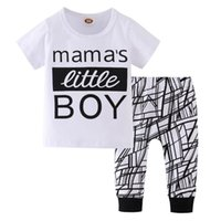 2Pcs Baby Boys Clothes Set Summer Short Sleeve Mama' s L...