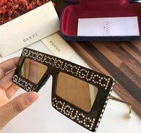Atacado-Novo design de moda óculos de sol homens e mulheres óculos de sol de marca Hotor sol sombra espelho lente UV400 luxo óculos de sol 0431