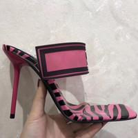 실제 신발! 큰 크기 42 43 여성 샌들 럭셔리 디자이너 신발 슬라이드 여름 패션 넓은 하이힐 미끄러운 PVC 샌들 슬리퍼 상자