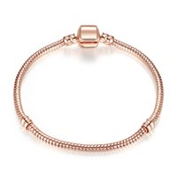 Authentic Silver Plated Snake Chain 18K Rose Gold 3mm Snake ...