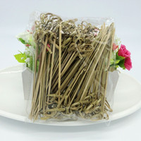 100 Pcs set 12cm Disposable Bamboo Fork Twisted Party Buffet...
