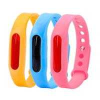Anti Mosquito Ring Waterproof Candy Jelly Color Mosquito Repellent Band Bracelets kids Silicone Hand Wrist Band EEA1575