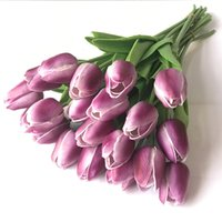 Beauty Real touch flowers Tulips flower Artificial Bouquet F...