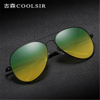 Der Großhandelsmänner polarisierten Sonnenbrillen Nachtsicht Toad Objektiv polarisierten vu400 Tag und Nacht Sonnenbrille Fahren Sport Style Kleid Sonnenbrille