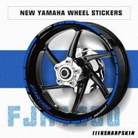 Alta qualidade roda decorativo filme stripe pneu decalque reflexivo dos homens da tendência da motocicleta adesivo para a Yamaha FJR1300 FJR 1300