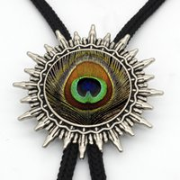 BOLO- 0031 New Arrival Cute Peacock Feather Western Bolo Tie ...