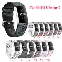 Печать ремешок для Fitbit Charge 3 4 Silica ремень Замена запястье Ремень спортивный ремешок для Fitbit Смарт часы Аксессуары дышащий Самые новые