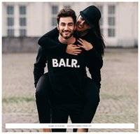 Big Letter BALR. Print Man Sweatshirts Fashion Pullover Wint...