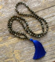 Mala Bead Necklace is carefully handmade with 108 natural La...
