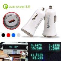 QC3.0 빠른 자동차 충전기 어댑터 LED 5V / 3A의 USB 빠른 충전기 9V / 2A 12V / 1.5A 빠른 자동차 충전기 높은 품질