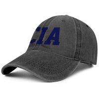CIA-LOGO Central Intelligence Agency Logo Unisex Denimbaseballmütze Golfmode uniquel Hüte Amerika-Flaggen-Marmor personalisierte Drucken
